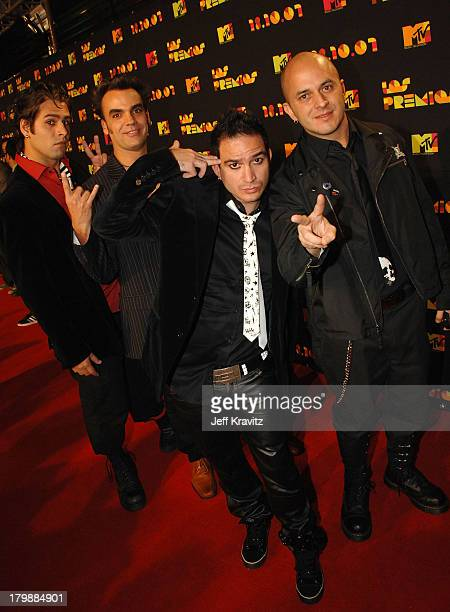 Caramelos de Cianuro arrives at the Los Premios MTV Latin America 2007 at the Palacio de los Deportes on October 18 2007 in Mexico City Mexico