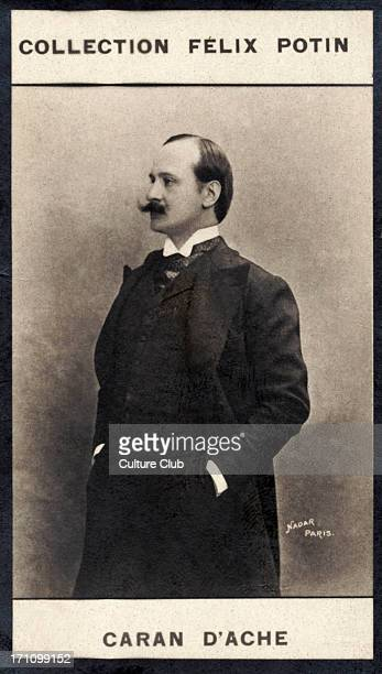 Caran d'Ache portrait French caricaturist of the Belle Époque real name Emmanuel Poire 18591909 Collection Felix Potin Poire signed his name Caran...
