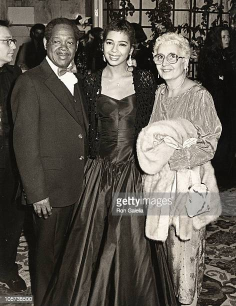 Cara's father Irene Cara and Cara's mother during 56th Annual Academy Awards Governor's Ball at Beverly Hilton Hotel in Beverly Hills California...