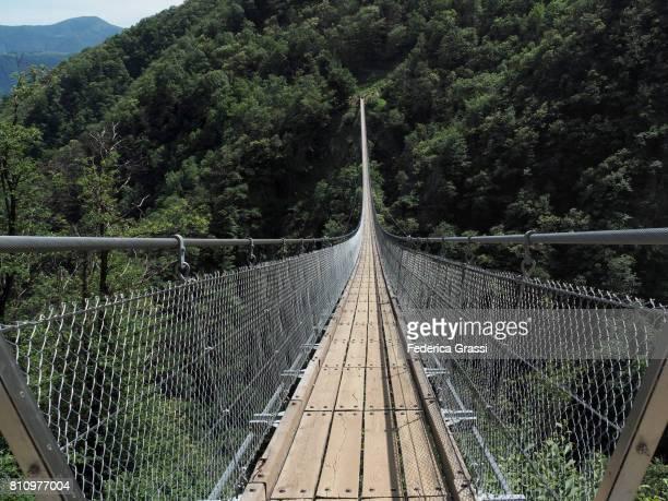 carasc suspension bridge, ticino, switzerland - ascona stock pictures, royalty-free photos & images