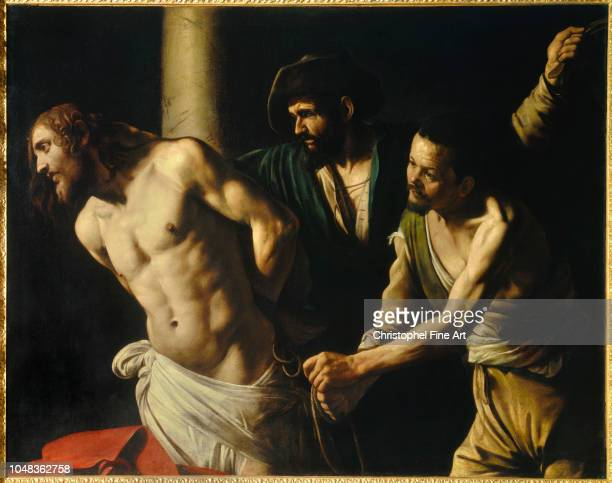 Caravage Merisi Flogging of Christ at the column 1607 Museum of Fine Arts of Rouen