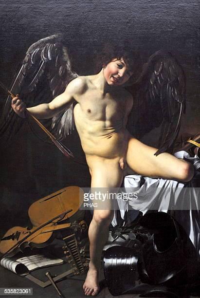 Caravaggio Italian painter Amor Victorious 16011602 Gemaldegalerie Berlin Germany