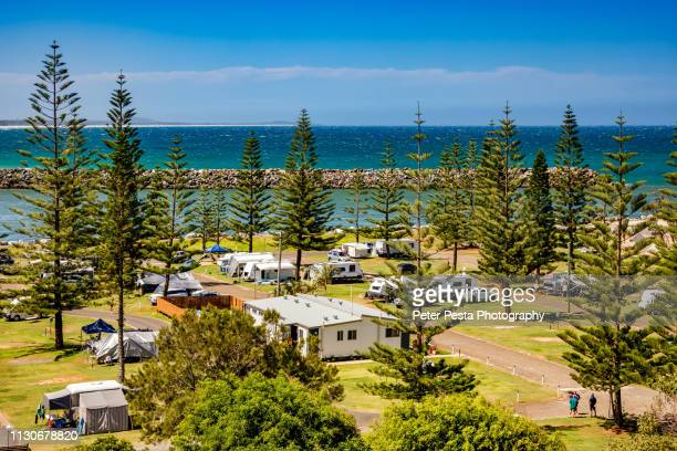 caravan camp - port macquarie stock pictures, royalty-free photos & images