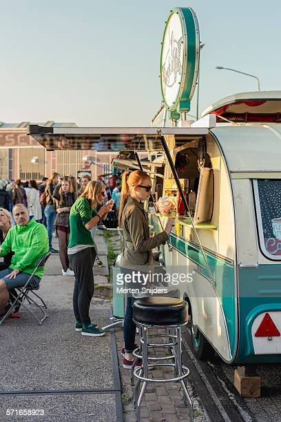 Caravan food vendors at food festival