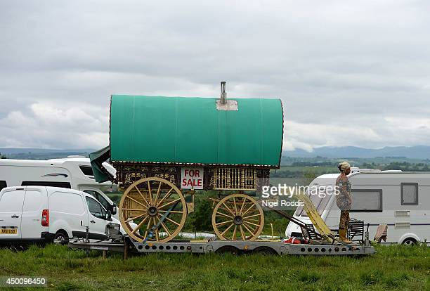 A caravan for sale during the Appleby Horse Fair on June 5 2014 in Appleby England The Appleby Horse Fair has existed under the protection of a...