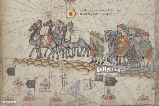 Caravan on the Silk Road Detail from the Catalan Atlas Found in the Collection of Bibliothèque Nationale de France
