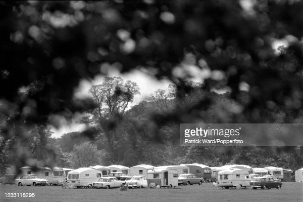 Caravan park near Woburn Abbey and Gardens in Bedfordshire, circa July 1969. From a series of images to illustrate the many frustrations of living in...