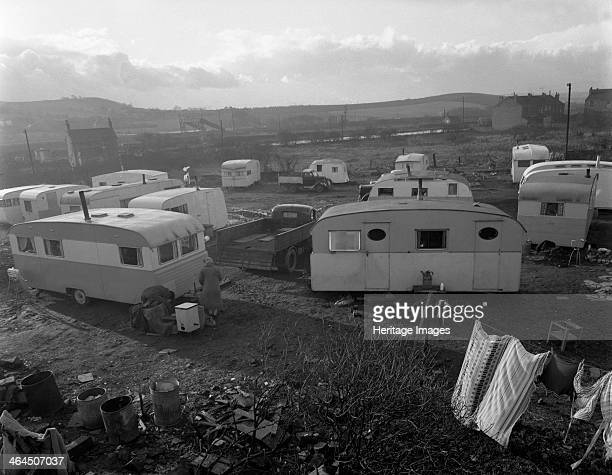 Caravan site in Mexborough South Yorkshire 1961 The Caravan site in Mexborough in South Yorkshire prior to it being cleaned up on the orders of the...