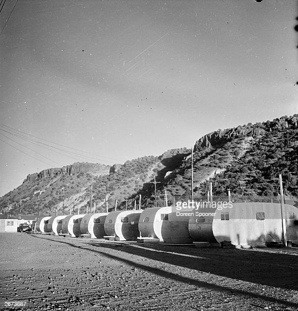 Caravans in Los Alamos New Mexico the site of Atom bomb tests
