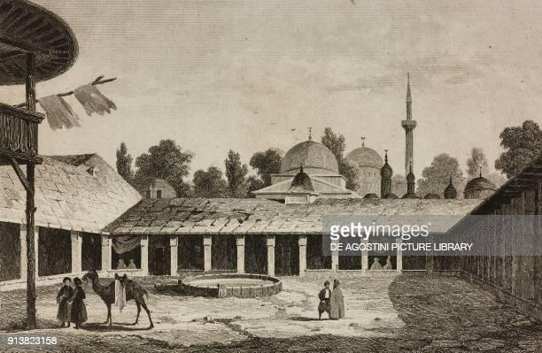Caravanserai in Burgas Bulgaria engraving by Lemaitre Vormser and Cholet from Turquie by Joseph Marie Jouannin and Jules Van Gaver L'Univers...