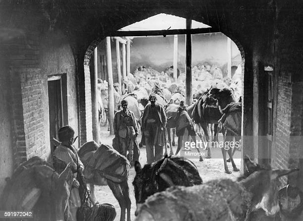 Caravanserai in Hamadan capital city of Hamadan Province of Iran Circa 1926 Hamadan is believed to be among the oldest Iranian cities and one of the...