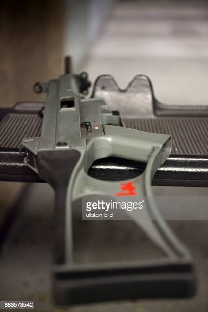 HK USC Carbine 45mm made by the German weapon manufacturer Heckler Koch at a shooting range The USC Carbine is the civilian version of the...