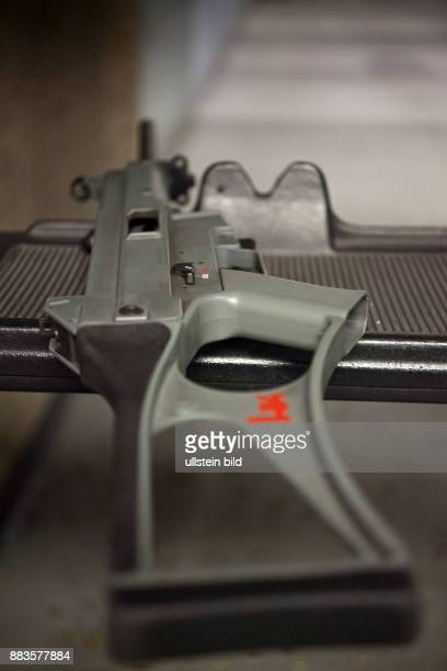 HK USC Carbine 45mm the civilian version of the submachinegun UMP made by the German weapon manufacturer Heckler Koch at American Shooting Center