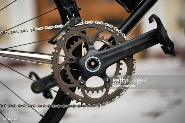carbon bicycle crankset - クランクセット ストックフォトと画像