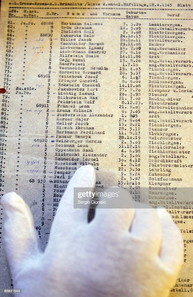 Schindler's List Found At Syndey Library : News Photo