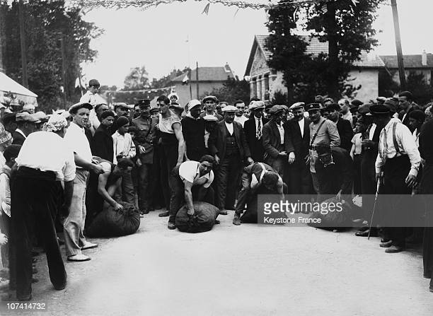 Carbon Merchants Anual Competition In Aulnay Sous Bois On August 1933