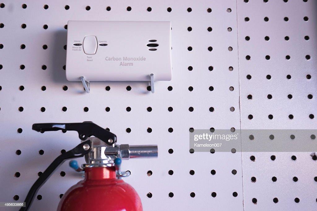 carbon monoxide alarm : Stock Photo