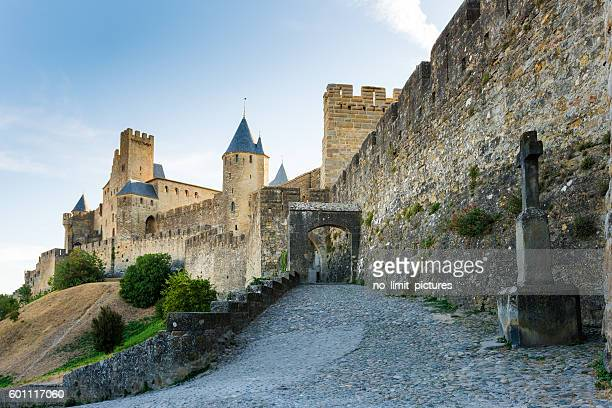 carcasonne castle - carcassonne stock pictures, royalty-free photos & images