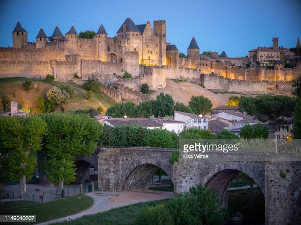 carcassonne, france - languedoc rousillon stock pictures, royalty-free photos & images