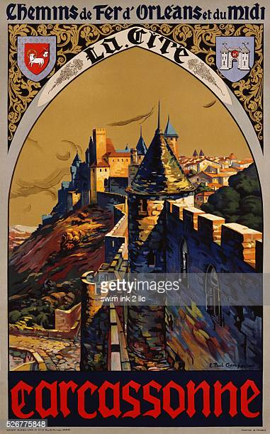 Carcassonne Poster by E Paul Champseix