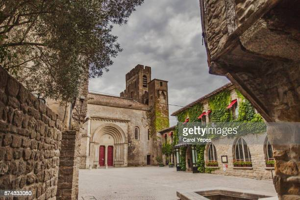 carcassonne square, la cite, france - carcassonne stock pictures, royalty-free photos & images
