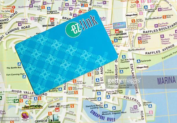 EZ-LINK Card and Street Plan, Singapore