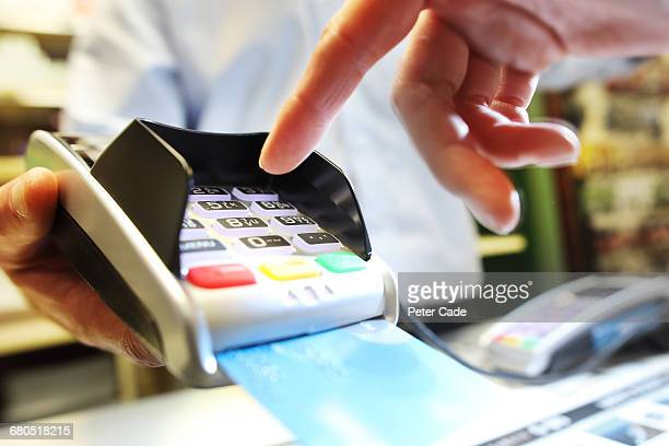 Card machine being used in pub