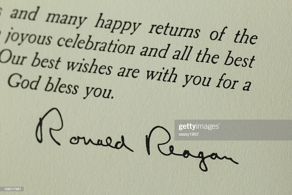 Happy Anniversary Card From The White House /& The Reagans