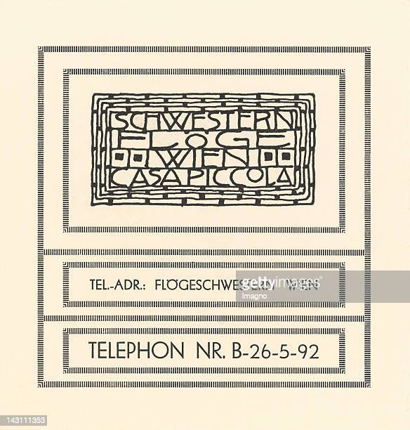Card with letterhead of the fashion house 'Schwestern Floege' Designed by Gustav Klimt 1904