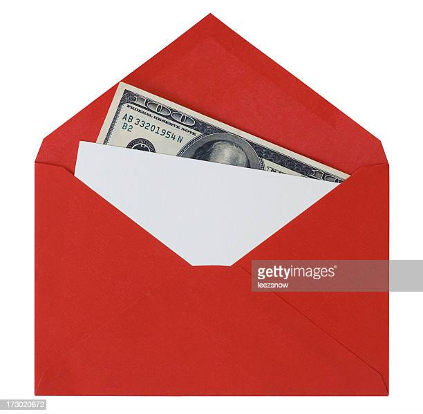 card with money in red envelope - christmas cash stock pictures, royalty-free photos & images