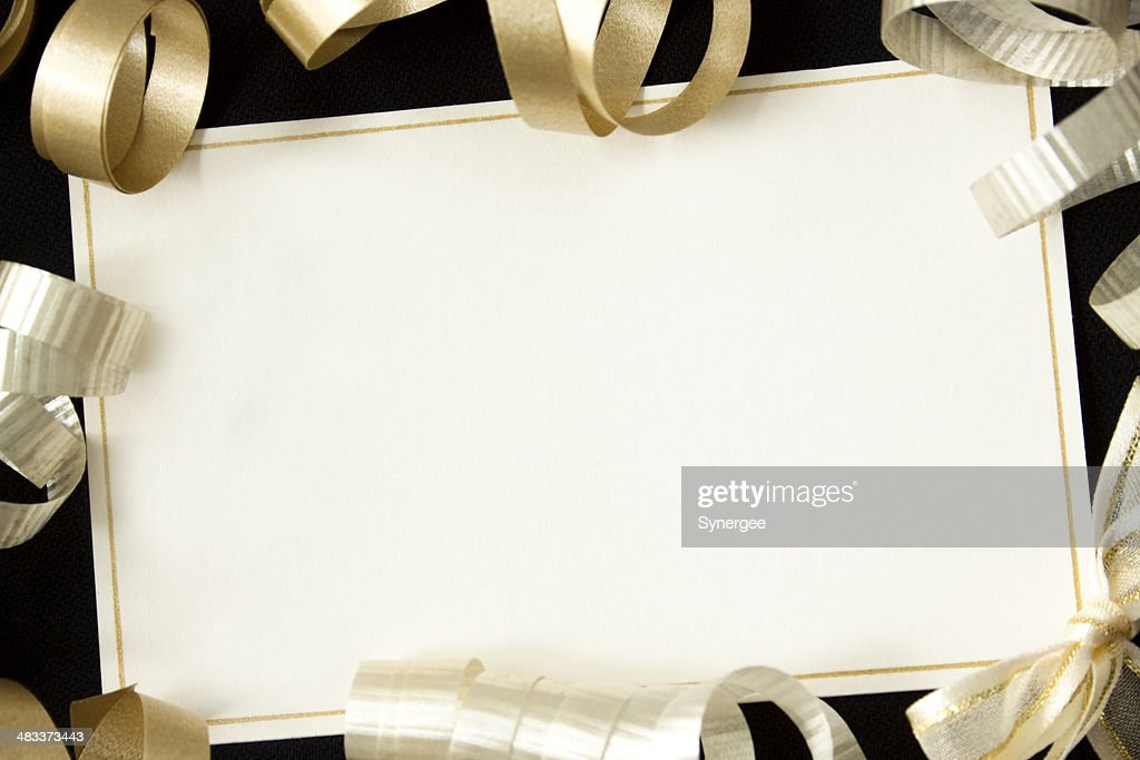 Card with ribbons. : Stock Photo