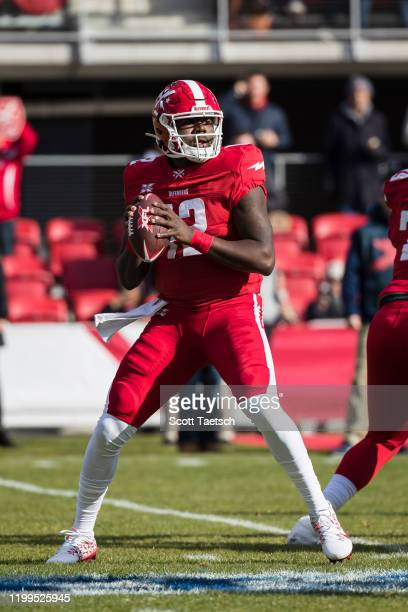Cardale Jones of the DC Defenders looks to pass against the Seattle Dragons during the first half of the XFL game at Audi Field on February 8, 2020...