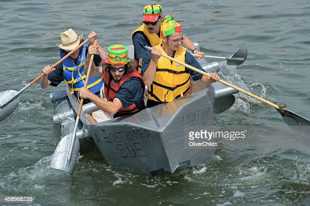 Cardboard boat racing, Summerside, Canada.