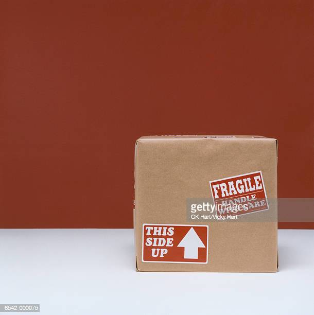 cardboard box - fragility stock pictures, royalty-free photos & images