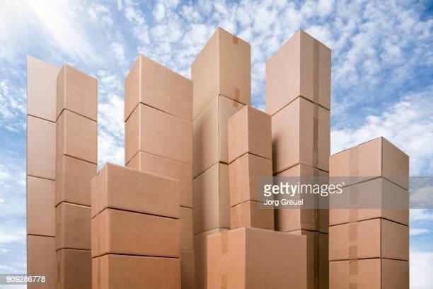Cardboard box skyline