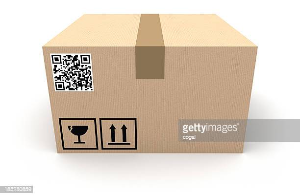Pappkarton mit QR-code