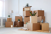 Cardboard Boxes Background