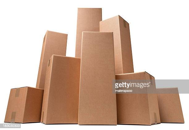 Cardboard boxes like a city