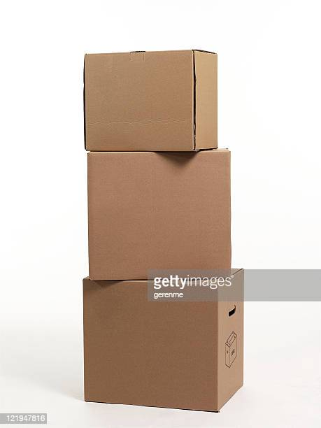 cardboard boxes - stack stock photos and pictures