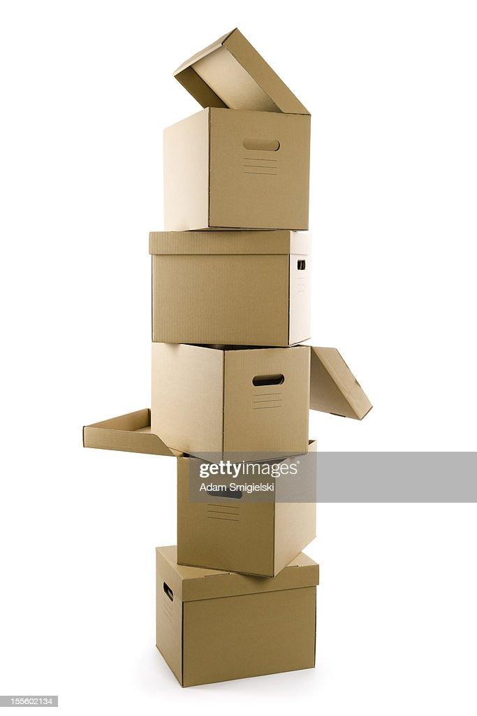 cardboard boxes : Stock Photo