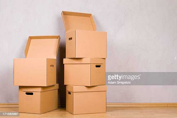 cardboard boxes - cardboard box stock pictures, royalty-free photos & images