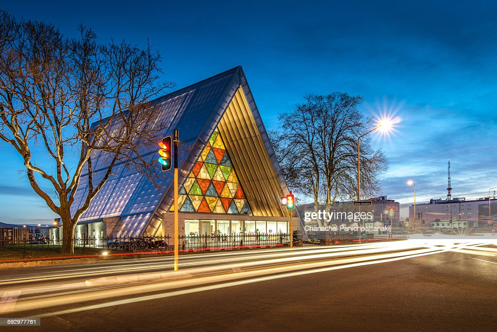 Cardboard cathedral in Christchurch, New Zealand : Stock-Foto
