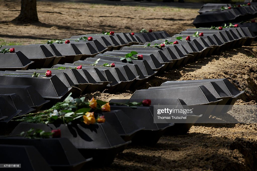70 Years Since WW2, War Dead Are Laid To Final Rest : News Photo