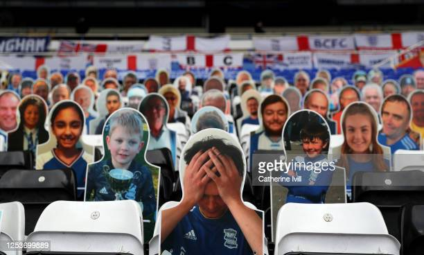 Cardboard cut fans in the stands during the Sky Bet Championship match between Sheffield Wednesday and West Bromwich Albion at Hillsborough Stadium...