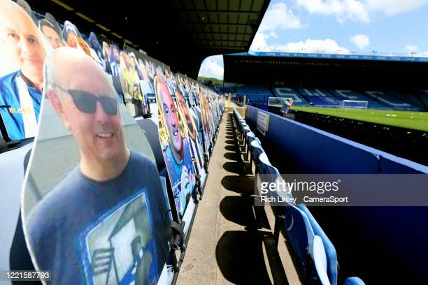 Cardboard cutouts take the place of actual fans in the stands ahead of the Sky Bet Championship match between Sheffield Wednesday and Nottingham...