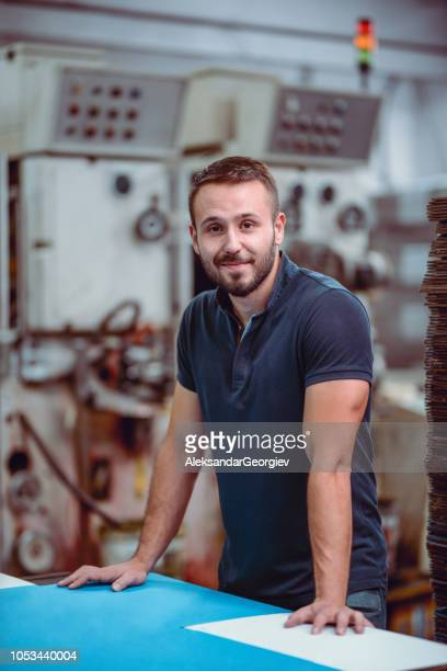 Cardboard Factory Owner Posing
