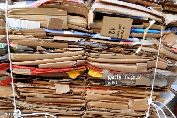 Cardboard recycling, responsible businesses
