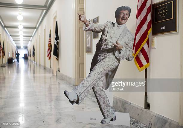 A cardboard version of Las Vegas star Liberace stands outside of the office of Rep Dina Titus DNev on the 4th floor of the Cannon House Office...