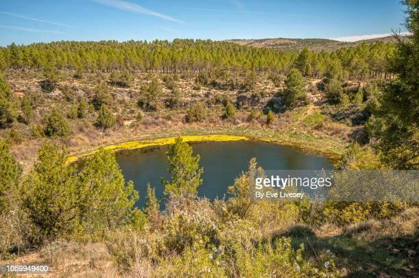 cardenillas lagoon - provincia de cuenca fotografías e imágenes de stock
