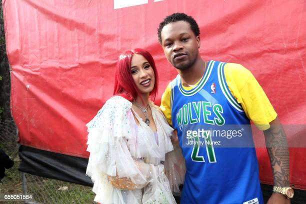 Cardi B and BJ The Chicago Kid attend Day 9 of the 2017 SXSW Conference And Festivals on March 18 2017 in Austin Texas